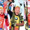 Дарья Домрачева завоевала серебро в гонке преследования на чемпионате мира по биатлону