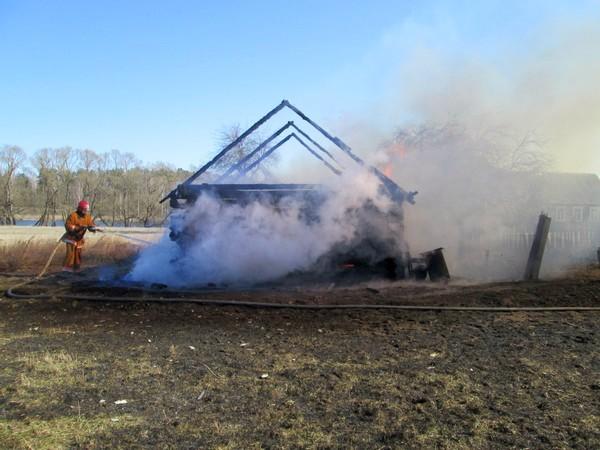Пожар в Ведрице