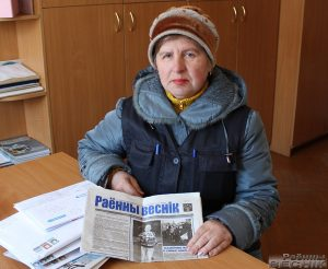 Нашы памочнікі: паштальён Святлана Бабук